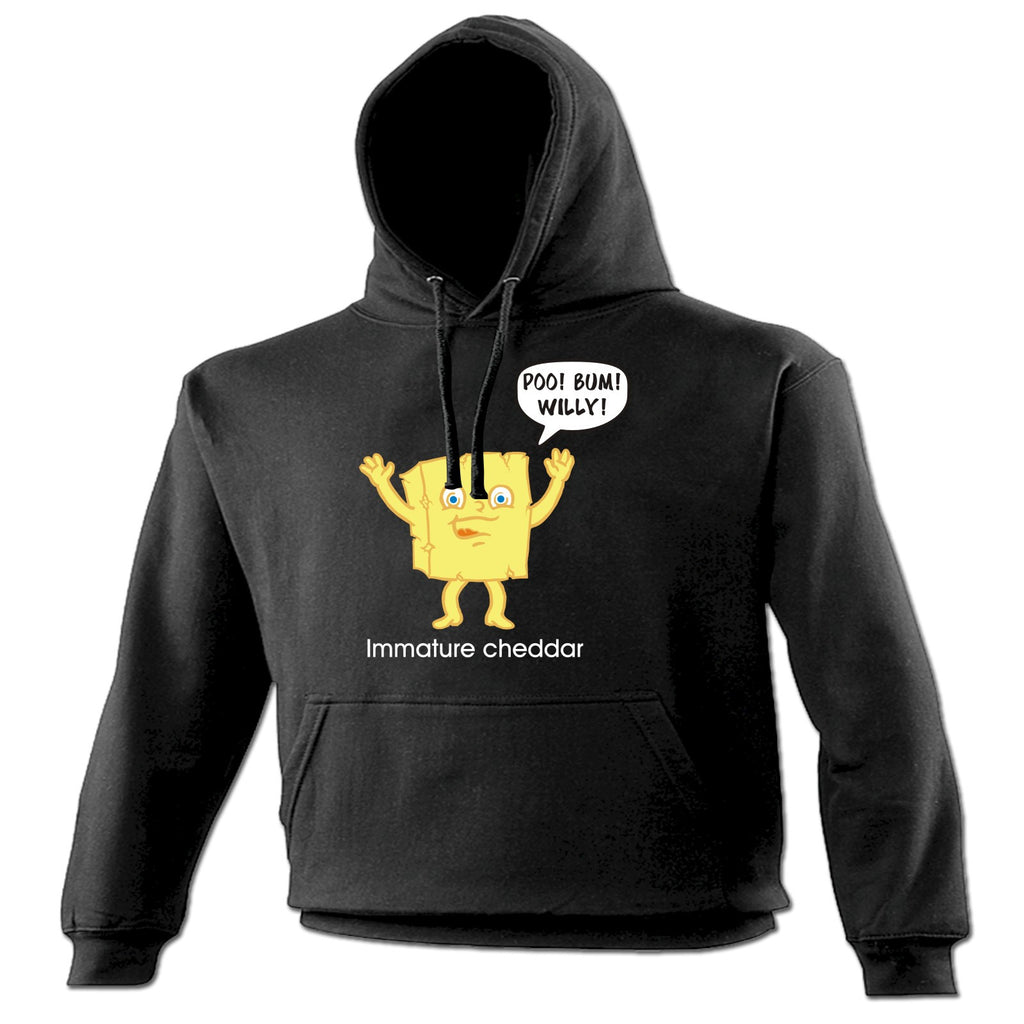 123t Immature Cheddar Profanity Design Funny Hoodie