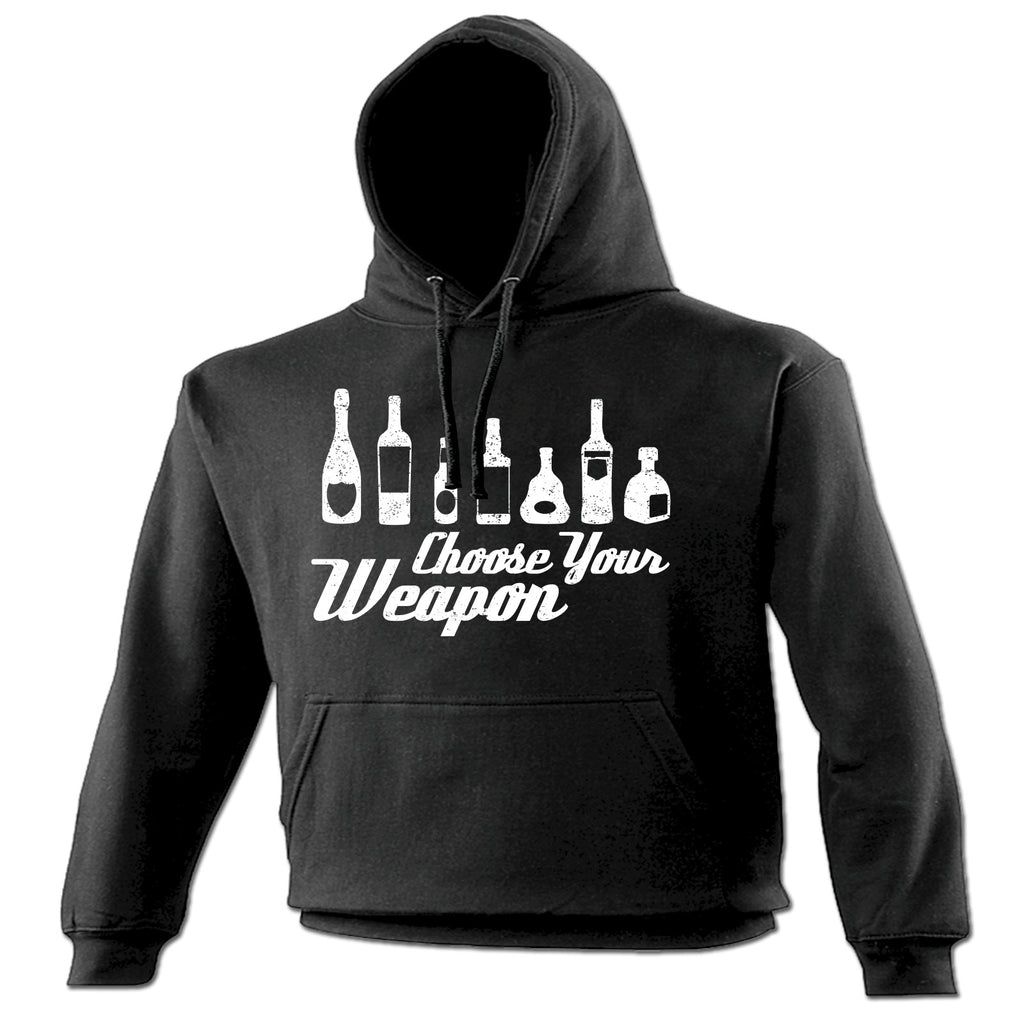 123t Choose Your Weapon Booze Bottle Design Funny Hoodie