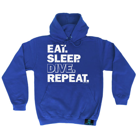 Open Water Eat Sleep Dive Repeat Scuba Diving Hoodie