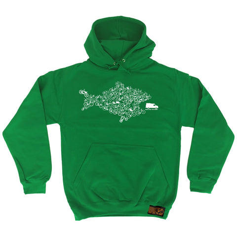Ride Like The Wind Eco Fish Bike Cycling Hoodie