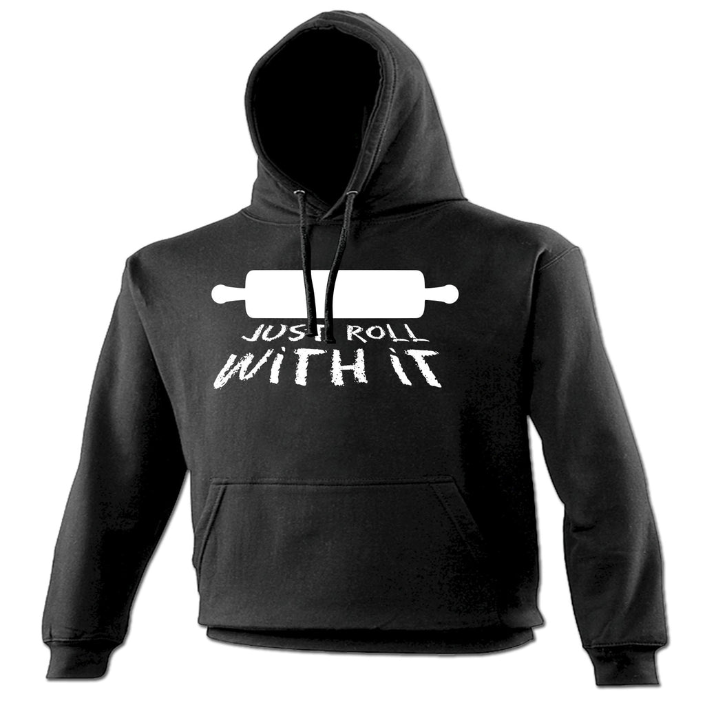 123t Just Roll With It Rolling Pin Design Funny Hoodie
