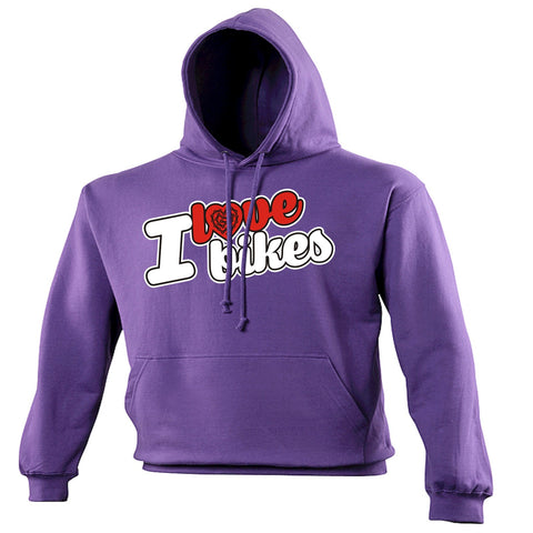123t I Love Bikes Chain Heart Design Funny Hoodie