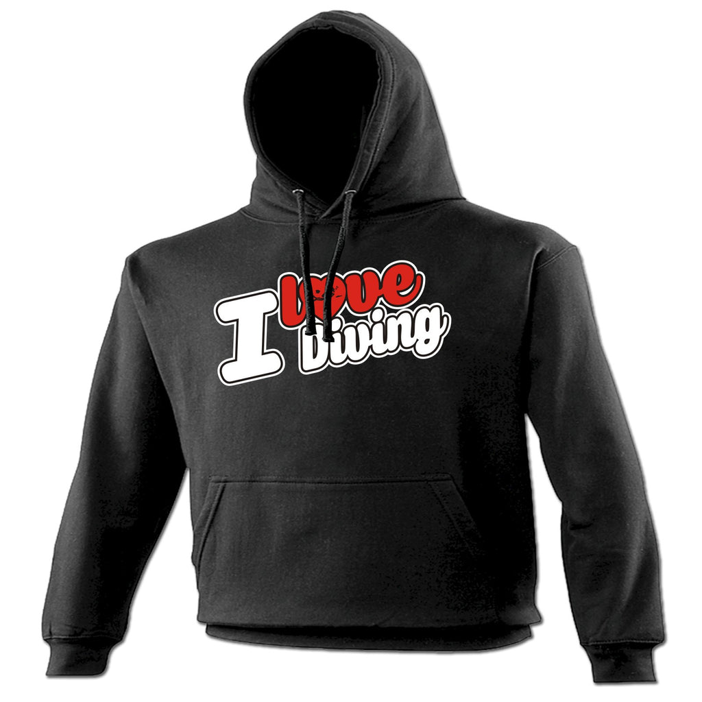 123t I Love Diving Scuba Heart Design Funny Hoodie