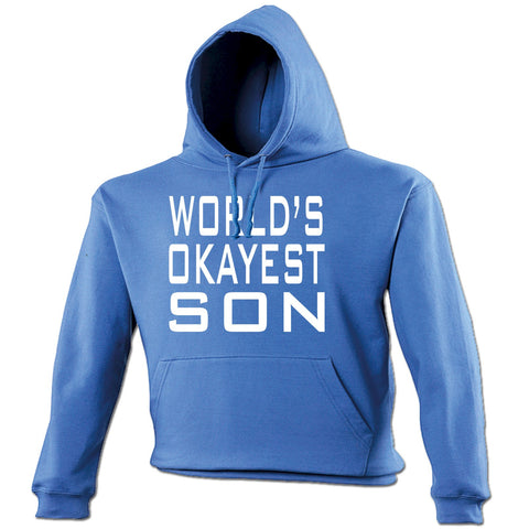 123t World's Okayest Son Funny Hoodie