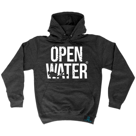 Open Water Diver Bold Text Design Scuba Diving Hoodie