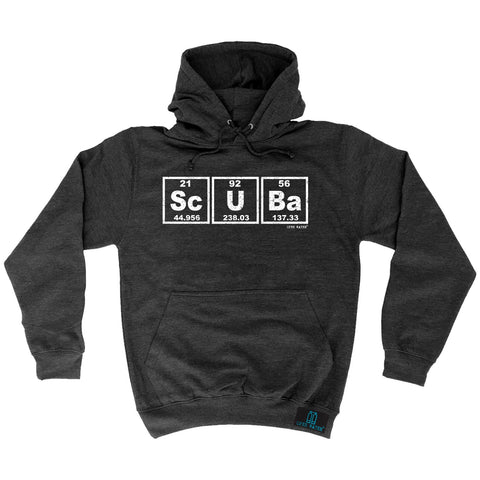 Open Water Scuba Periodic Elements Design Scuba Diving Hoodie