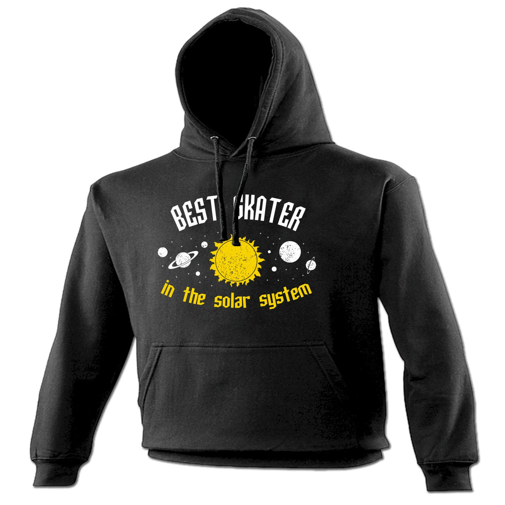 123t Best Skater In The Solar System Galaxy Design Funny Hoodie