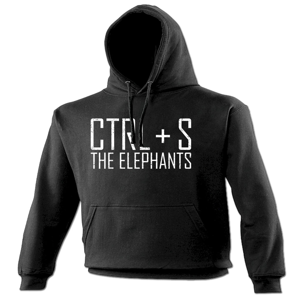 123t CTRL + S The Elephants Funny Hoodie