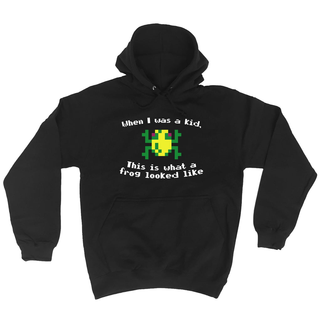 123t When I Was A Kid This Is What A Frog Looked Like Frog Design Funny Hoodie