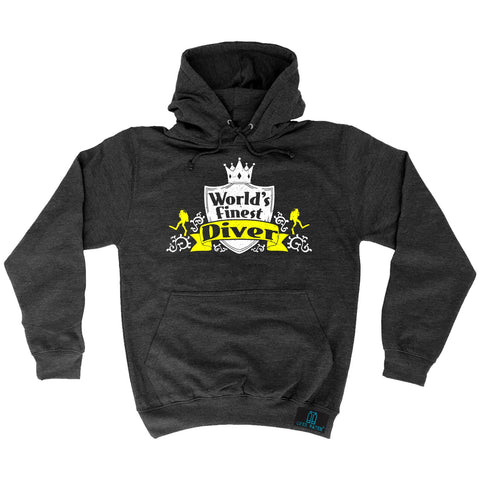 Open Water World's Finest Scuba Diver Scuba Diving Hoodie