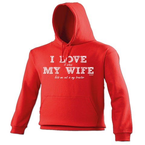 123t I Love It When My Wife ... Tractor Funny Hoodie