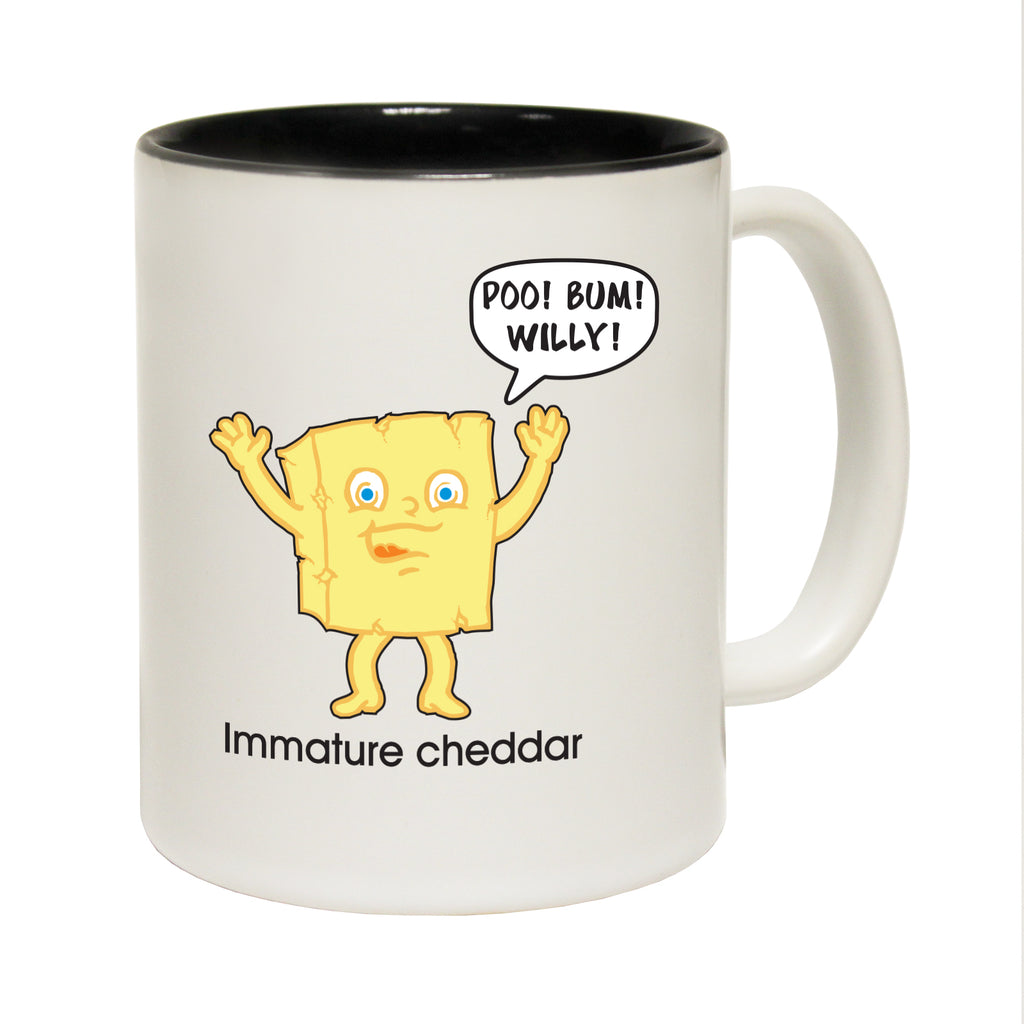 123T Funny Mugs - Immature Cheddar - Coffee Cup