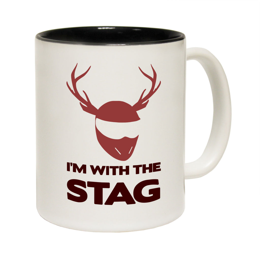 123T Funny Mugs - Im With The Stag - Coffee Cup