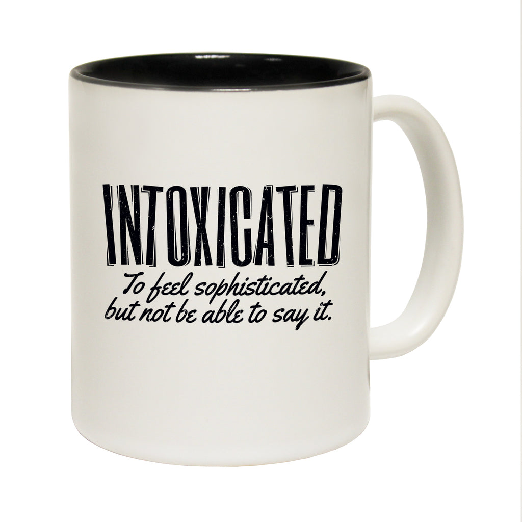 123T Funny Mugs - Intoxicated - Coffee Cup