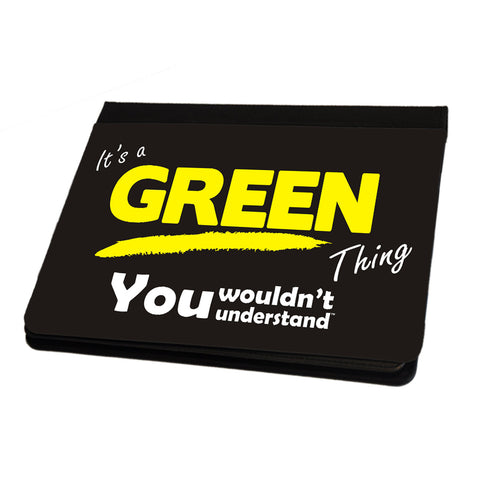 123t It's A Green Surname Thing iPad Cover / Case / Stand ( All Models )