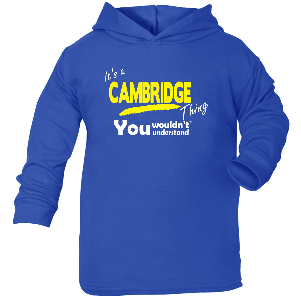 123t Baby It's Cambridge Thing You Wouldn't Understand Funny Toddlers Cotton Hoodie, Its A Surname Thing