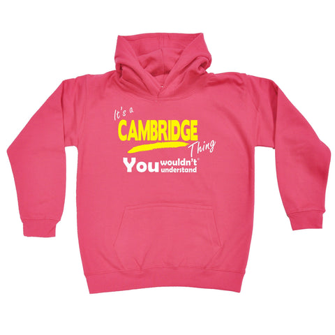 123t Kids It's A Cambridge Thing You Wouldn't Understand Funny Hoodie Ages 1-13