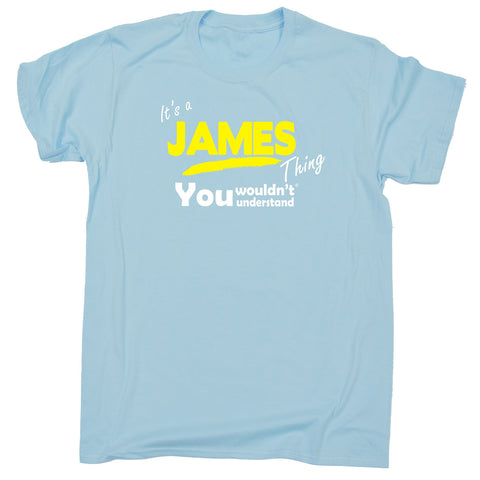 123t Kids It's A James Thing You Wouldn't Understand Funny T-Shirt Ages 3-13