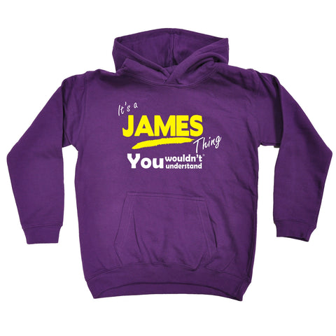 123t Kids It's A James Thing You Wouldn't Understand Funny Hoodie Ages 1-13