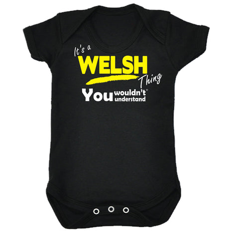 123t Baby It's A Welsh Thing You Wouldn't Understand Funny Babygrow, Its A Surname Thing