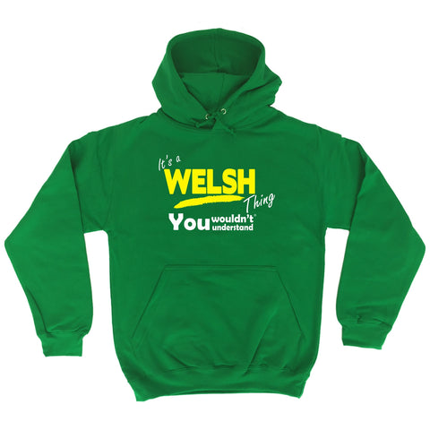 123t It's A Welsh Thing You Wouldn't Understand Funny Hoodie, Its A Surname Thing