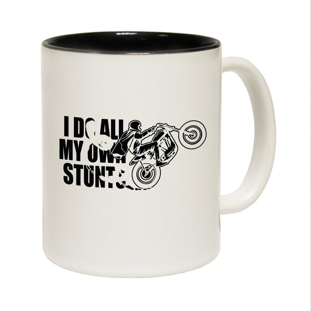123T Funny Mugs - I Do All My Own Stunts Moto Show - Coffee Cup