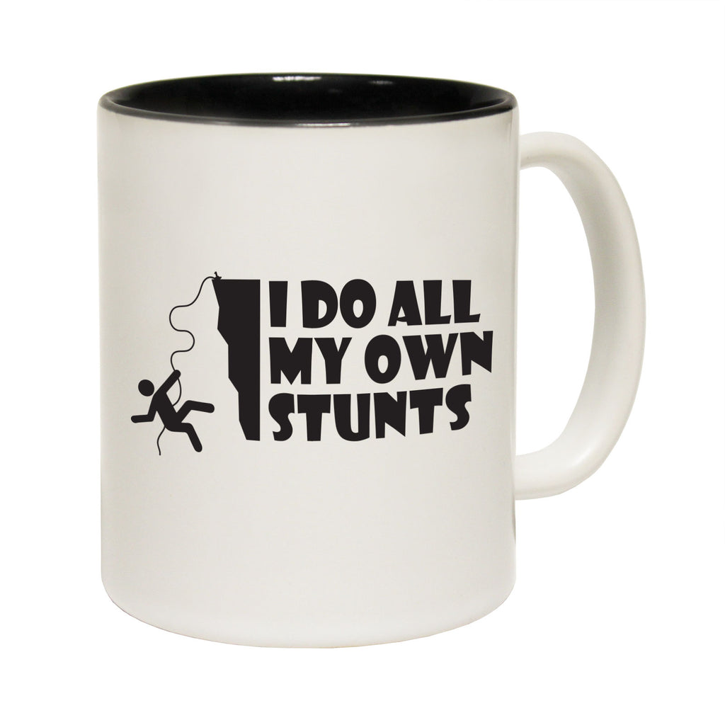123T Funny Mugs - I Do All My Stunts Climbing - Coffee Cup