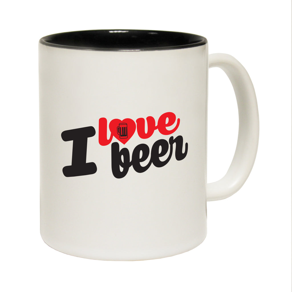 123T Funny Mugs - I Love Beer - Coffee Cup