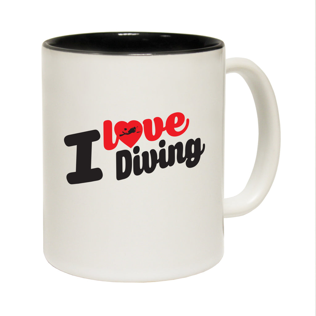 123T Funny Mugs - I Love Diving - Coffee Cup