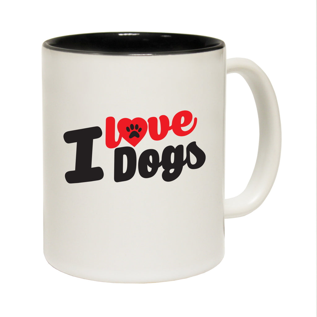 123T Funny Mugs - I Love Dogs - Coffee Cup