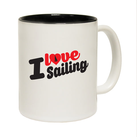 123T Funny Mugs - I Love Sailing - Coffee Cup