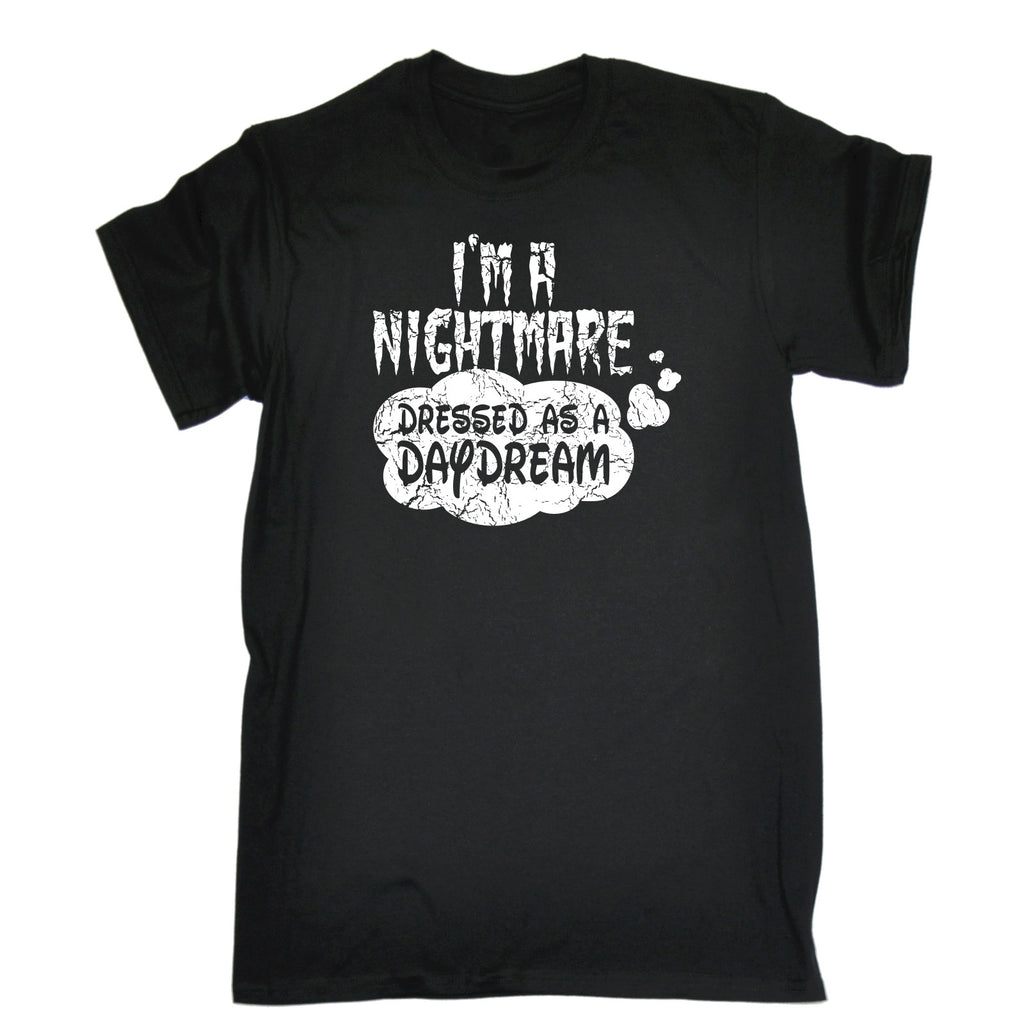 123t Men's I'm A Nightmare Dressed As A Daydream Funny T-Shirt, 123t