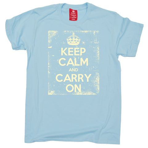 Official Keep Calm And Carry On ... Distressed Kids T-Shirt Ages 3-13
