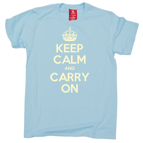 Official Keep Calm And Carry On Kids T-Shirt Ages 3-13