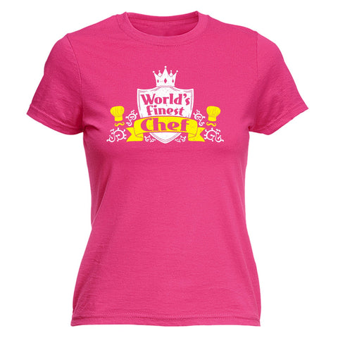 123t Women's World's Finest Chef Funny T-Shirt