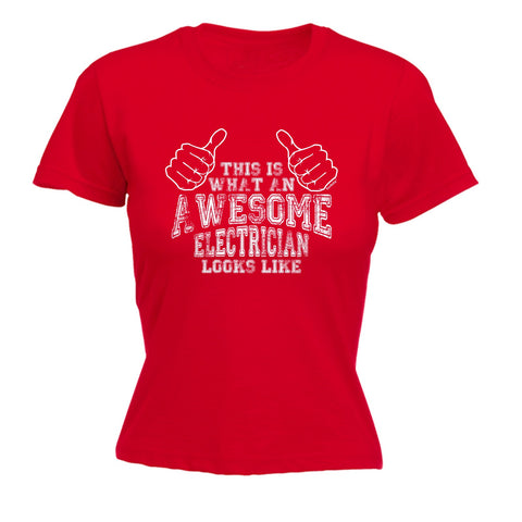 123t Women's This Is What An Awesome Electrician Funny T-Shirt