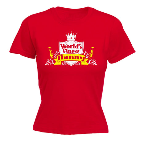 123t Women's World's Finest Nanny Funny T-Shirt