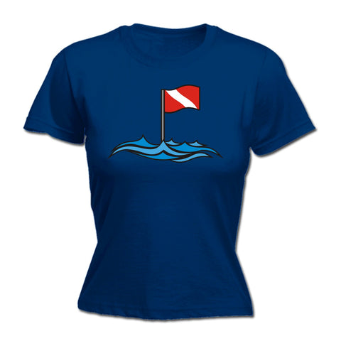 Open Water Women's Dive Site Flag Design Scuba Diving T-Shirt