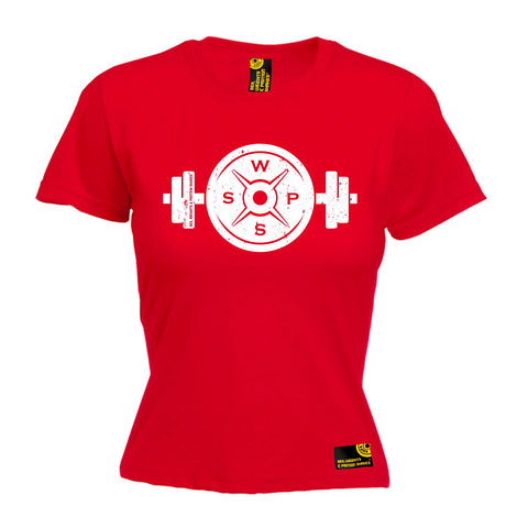 SWPS Women's Weight Dumbbell Design Sex Weights And Protein Shakes Gym T-Shirt