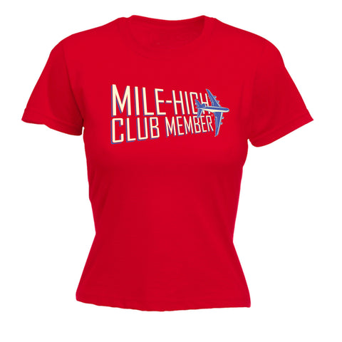 123t Women's Mile High Club Member Funny T-Shirt