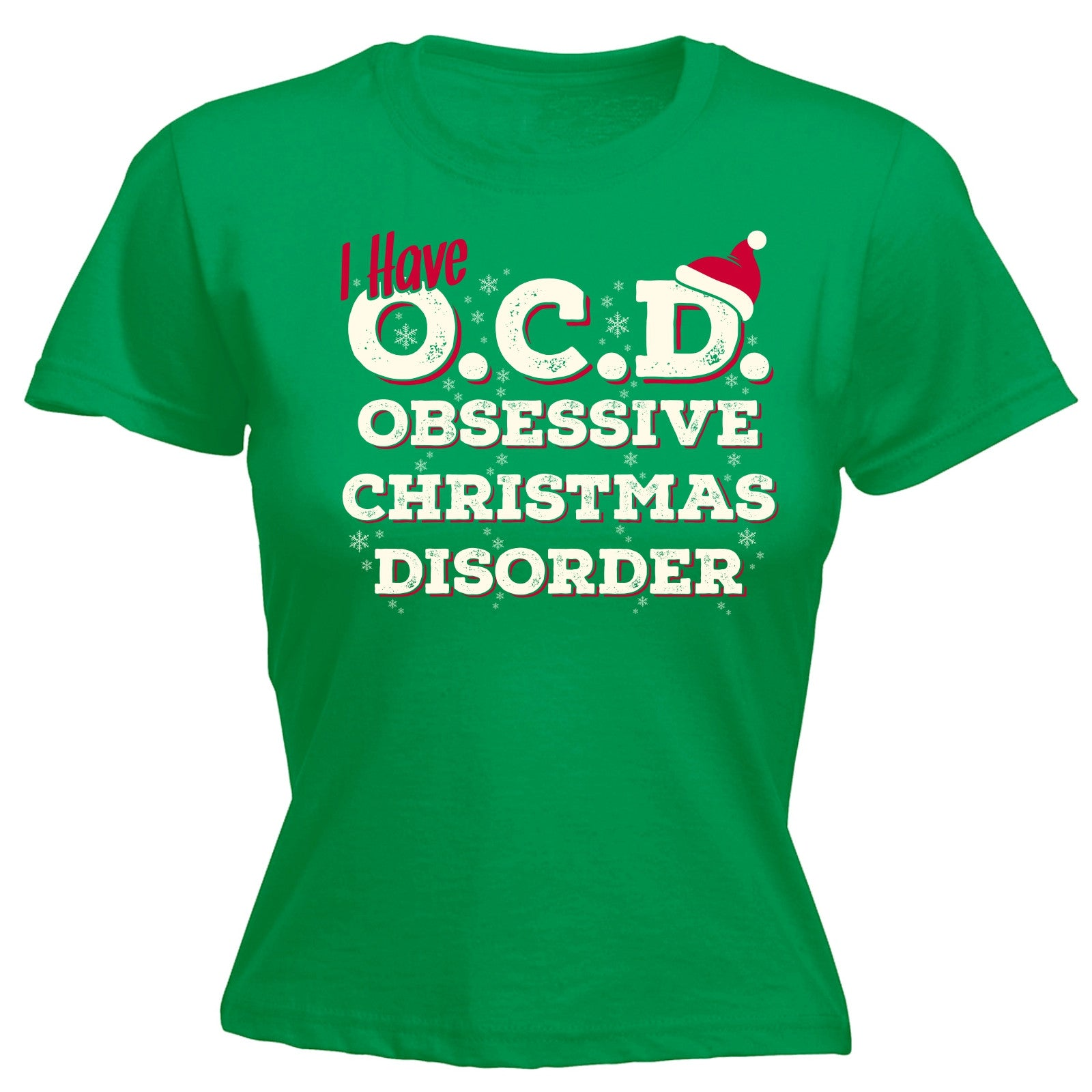 I Have OCD Obsessive Christmas Disorder WOMENS T-SHIRT Funny Present ...