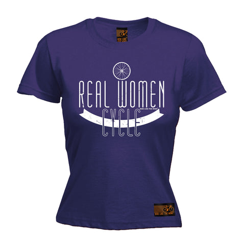 Ride Like The Wind Women's Real Women Cycle Cycling T-Shirt