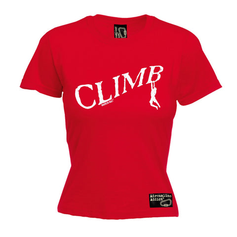 Adrenaline Addict Women's Climb Rock Climbing Man Design T-Shirt