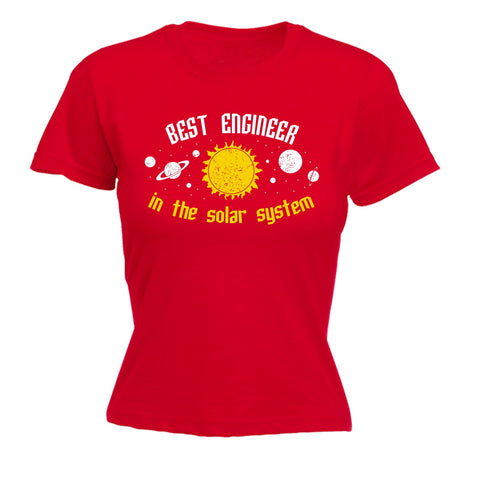 123t Women's Best Engineer In The Solar System Galaxy Design Funny T-Shirt