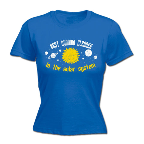 123t Women's Best Window Cleaner In The Solar System Galaxy Design Funny T-Shirt