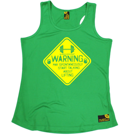SWPS Warning Start Talking About Lifting Sex Weights And Protein Shakes Gym Girlie Training Vest