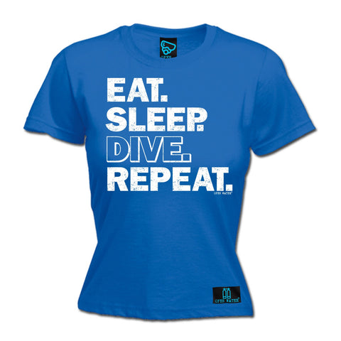 Open Water Women's Eat Sleep Dive Repeat Scuba Diving T-Shirt