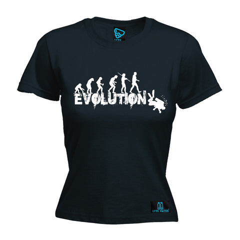 Open Water Women's Evolution Scuba Diver Scuba Diving T-Shirt