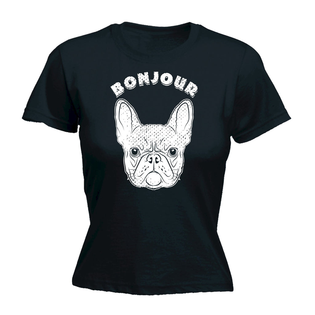 123t Women's Bonjour Frenchie Funny T-Shirt