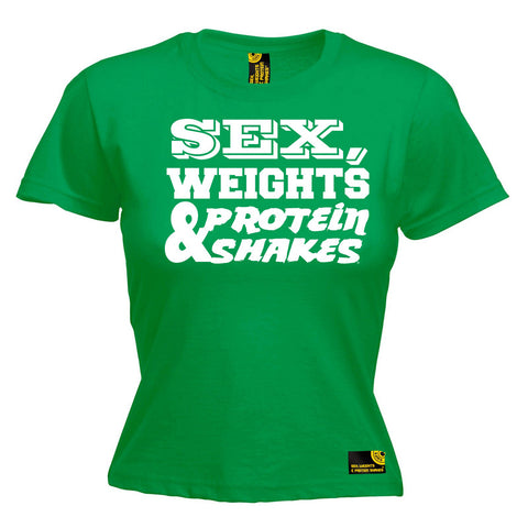Sex Weights and Protein Shakes Women's Sex Weights & Protein Shakes D1 Gym T-Shirt